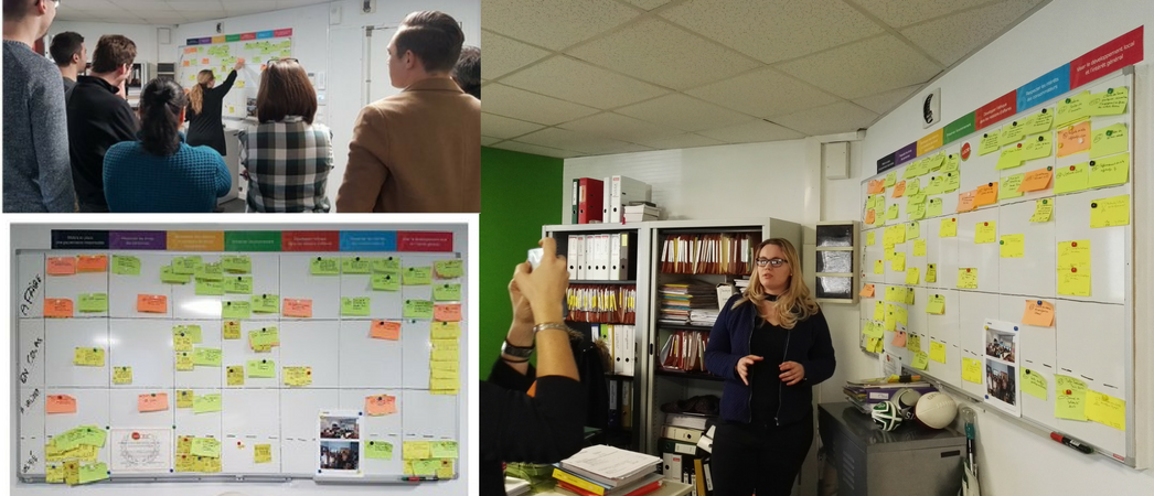 Tableau de post-its LUCIE d'Infotrafic