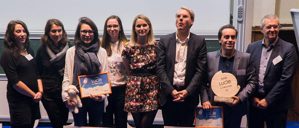 photo de groupe lauréats trophée LUCIE