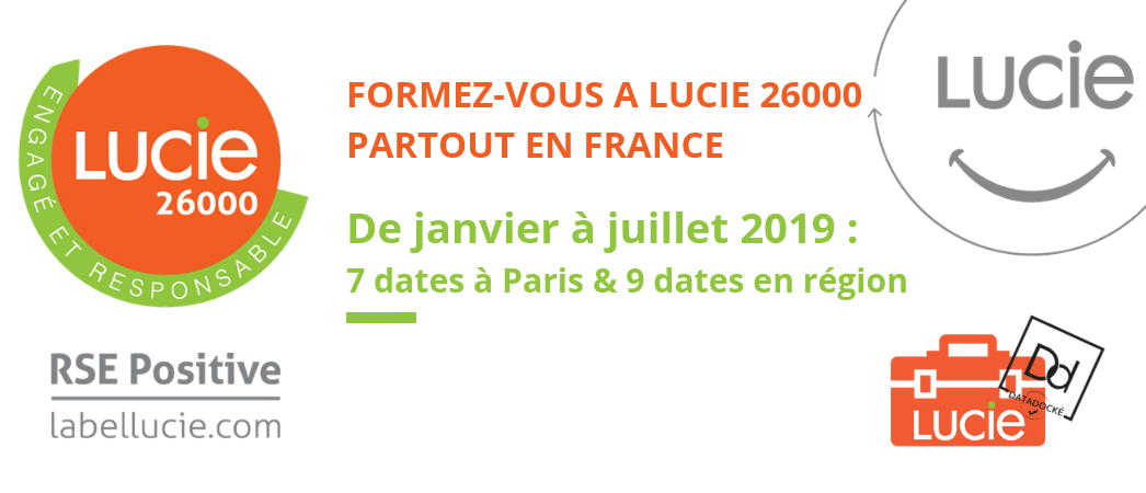 Formations ISO 26000 partout en France- 2019 - Label LUCIE