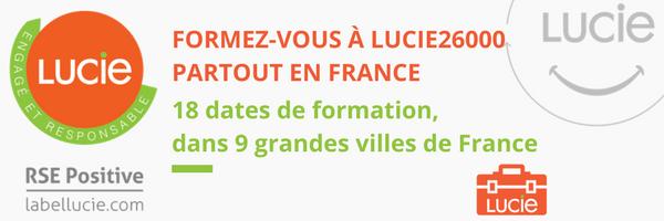 Formez-vous à LUCIE 26000 partout en France avec le Label LUCIE