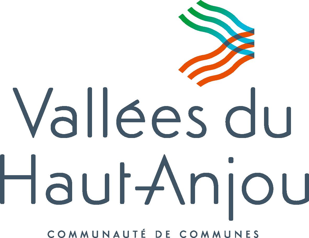 Logo de la Communauté de Communes Vallées du Haut-Anjou CCVHA - label LUCIE