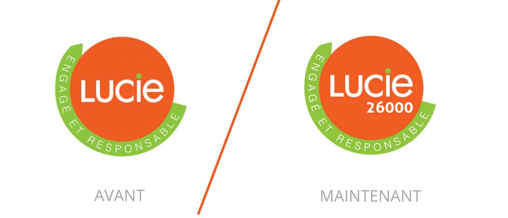 Découvrez le nouveau logo LUCIE 26000 - Label LUCIE