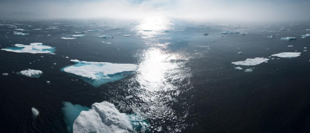 réchauffement climatique illustré par la fonte des glaces - Label LUCIE