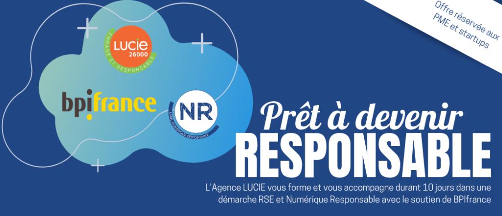 Opération RSE et Numérique responsable avec BPIFrance - Label LUCIE