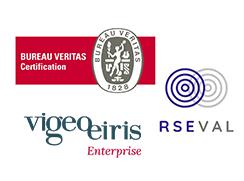 Logos Bureau Veritas Certification, RSEVAL et Vigeo Eiris