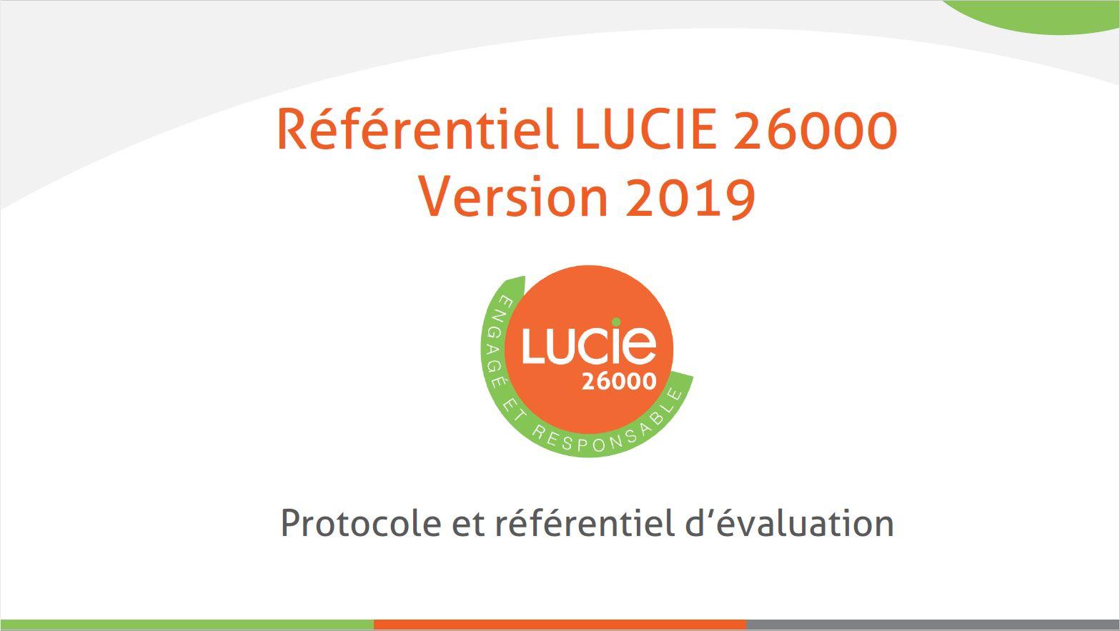 Nouveau référentiel LUCIE 26000 - Page de garde