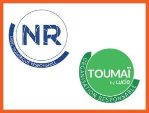 Logos des labels TOUMAI et Numérique Responsable - Label LUCIE