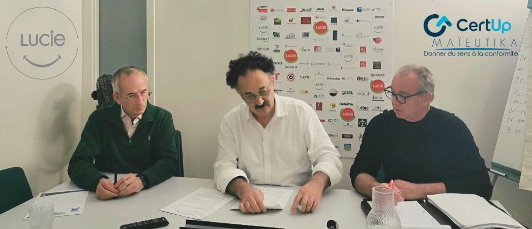 Photo de la signature du partenariat LUCIE x Certup Maieutika - Label LUCIE