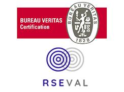 Logos évaluateurs LUCIE - Bureau Veritas RSEVAL - Label LUCIE
