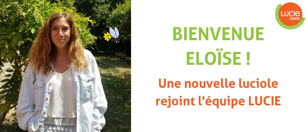 Eloïse Reybel nouvelle luciole au sein de l'équipe LUCIE -Label LUCIE