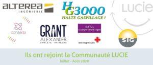 Nouveau membre Communauté Lucie Juillet-Aout