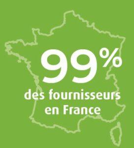99% de fournisseurs français
