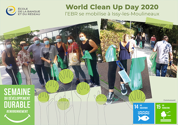 EBR participe au World CleanUp Day - SEDD - Label LUCIE