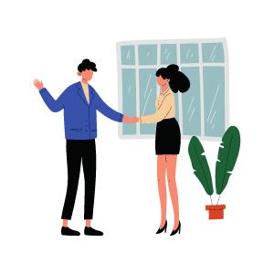 Picto deux personnes se serrant la main- Label LUCIE